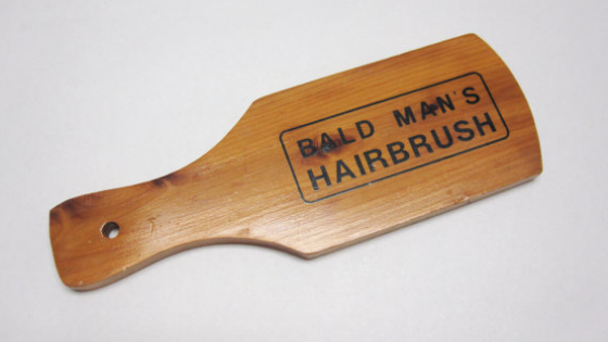 bald mans hair brush - MBA? So what's your startup idea?
